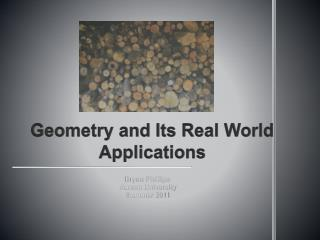 Geometry and Its Real World Applications