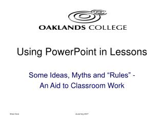 Using PowerPoint in Lessons