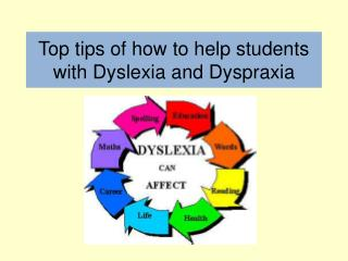 Top tips of how to help students with Dyslexia and Dyspraxia