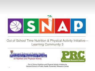 Out of School Time Nutrition & Physical Activity Initiative— Learning Community 3