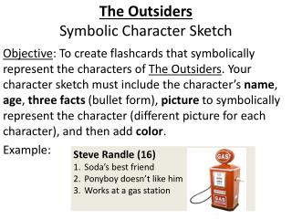 The Outsiders Symbolic Character Sketch