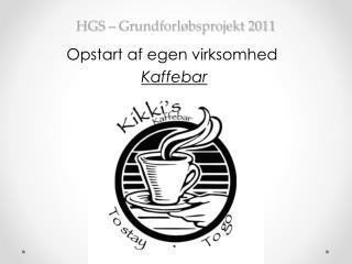 HGS – Grundforløbsprojekt 2011