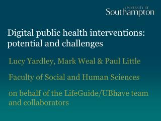 Digital public health interventions: potential and challenges