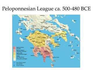 Peloponnesian League ca. 500-480 BCE