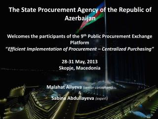 The State Procurement Agency of the Republic of Azerbaijan