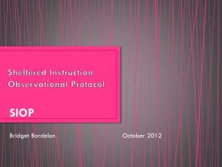 Sheltered Instruction Observational Protocol