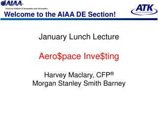 Welcome to the AIAA DE Section!