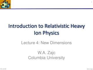 Introduction to Relativistic Heavy Ion Physics