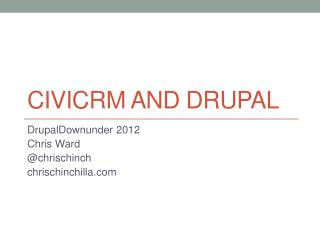 CiviCRM and Drupal