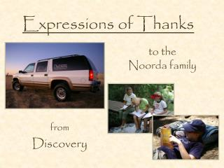 Expressions of Thanks