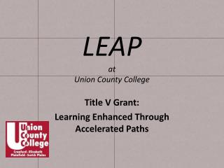 LEAP at  Union County College