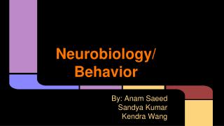 Neurobiology/ Behavior