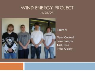Wind Energy Project 4/28/09