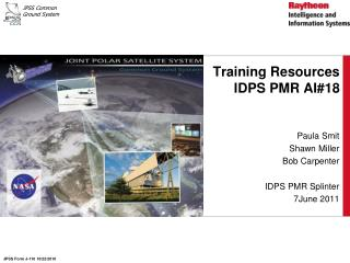 Training Resources IDPS PMR AI#18