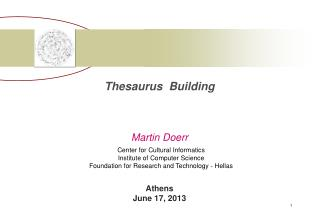 Thesaurus  Building