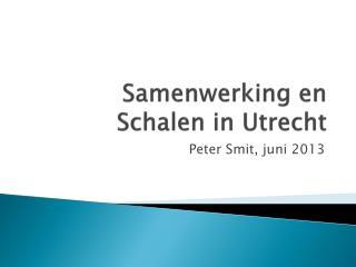 Samenwerking en Schalen in Utrecht