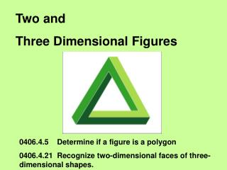 Two and Three Dimensional Figures