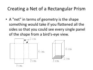 Creating a Net of a Rectangular Prism