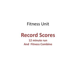 Fitness Unit