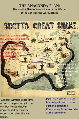 The Anaconda Plan:  The North's Plan to Slowly Squeeze the Life out of the Confederate War Machine