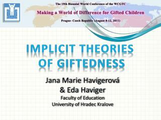 Implicit theories of giftedness