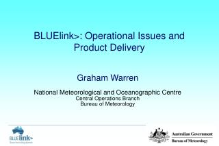 BLUElink: Operational Issues and Product Delivery