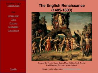 The English Renaissance (1485-1603)