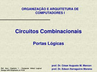 Circuitos Combinacionais Portas Lógicas