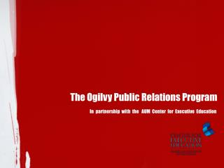 The Ogilvy  Public Relations Program