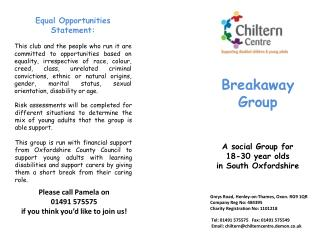 A social Group for  18-30 year olds  in South Oxfordshire