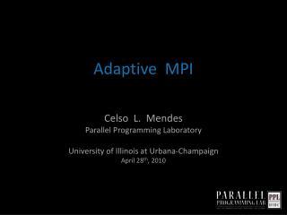 Adaptive  MPI