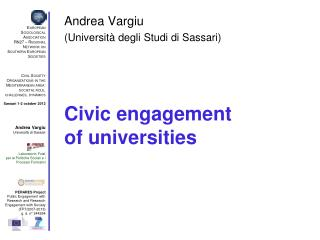 Civic engagement of universities