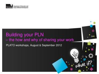 Building your PLN – the how and why of sharing your work