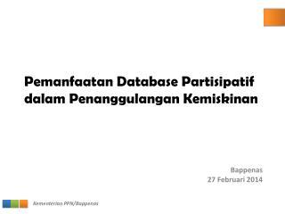 Pemanfaatan Database Partisipatif dalam Penanggulangan Kemiskinan