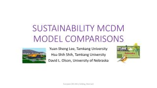 SUSTAINABILITY MCDM MODEL COMPARISONS