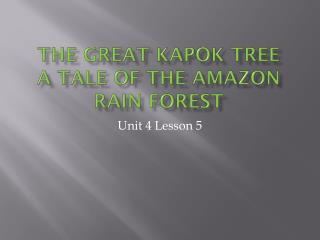 The Great Kapok Tree a tale of the  amazon  rain forest