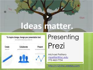 Presenting  Prezi