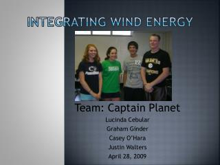 Integrating wind energy