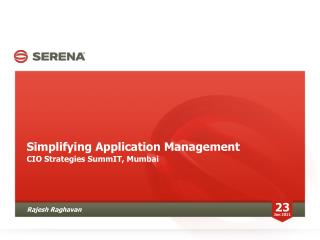 Simplifying Application Management