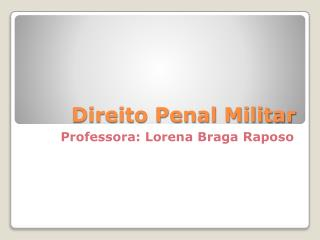 Direito Penal Militar