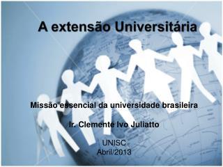 A extensão Universitária
