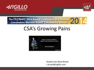 CSA�s Growing Pains