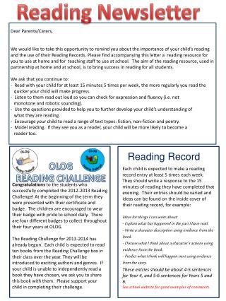 OL OG  READING CHALLENGE