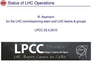 Status of LHC Operations