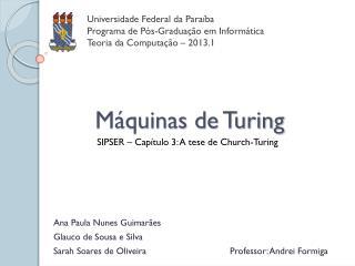 Máquinas de Turing