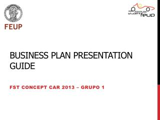 Business  Plan Presentation  Guide