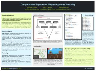 Computational Support for Playtesting Game Sketching