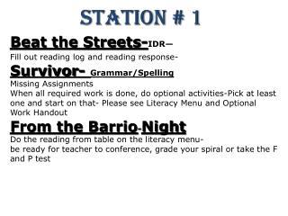 Station # 1