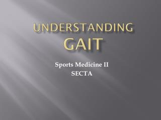 UNDERSTANDING  GAIT