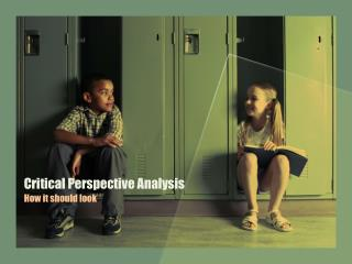 Critical Perspective Analysis